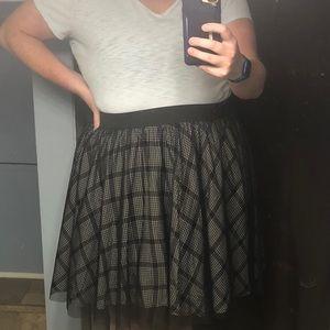 Tulle Plaid Skirt